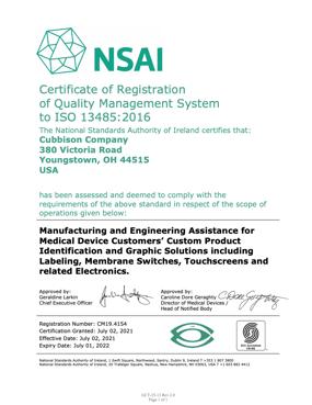 Cubbison Certification