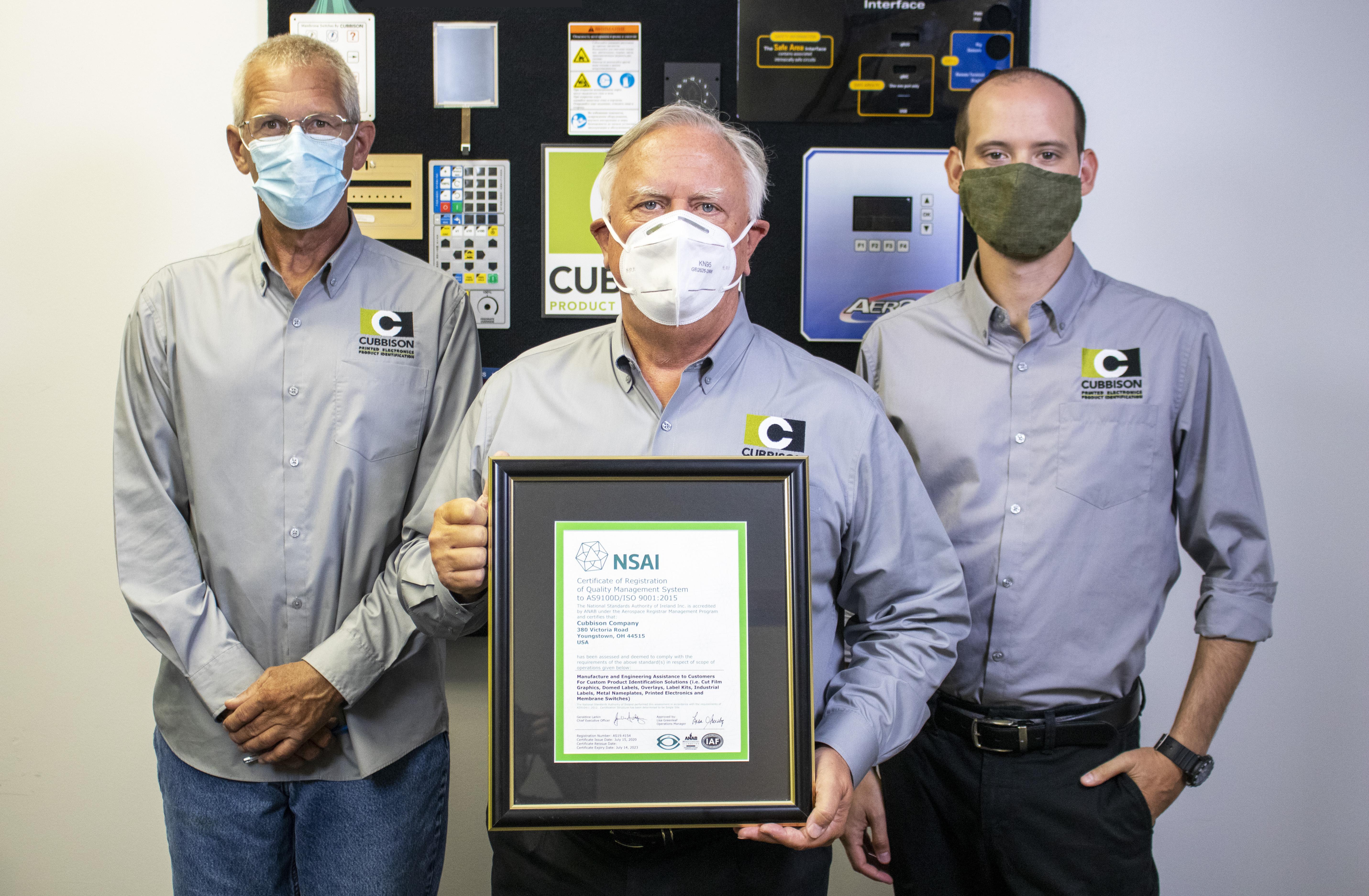 Cubbison Receives Prestigious AS9100 Certification