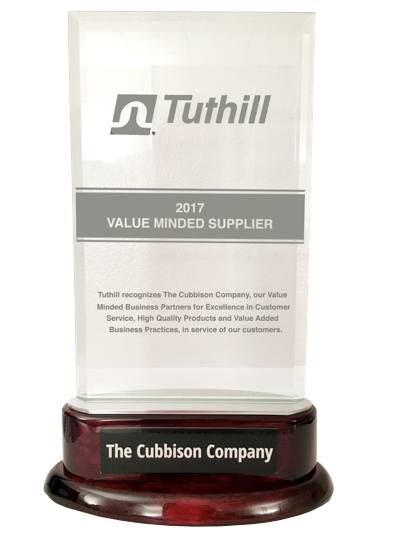 Tuthill Announces Value Minded Supplier Award for 2017